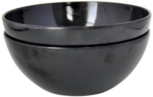 Yumi Nature+ 504 Soup/Salad Bowl, 8-Inch, Black, Set Of 2
