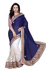 Vastram Online Shop Women's Net Saree (Tithi-08_Multicolor)