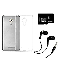 AORIS Transparent back cover for Coolpad Mega With 16 GB MEMORY CARD AND Earphone