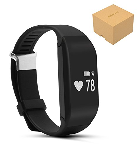 Jeemak Bluetooth 4.0 Smart band Heart Rate Monitor Smart Bracelet Wristband Fitness...