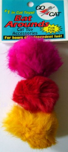 Image 3 Pack of Bat Arounds: Fur Ball Cat Toy from Da Bird