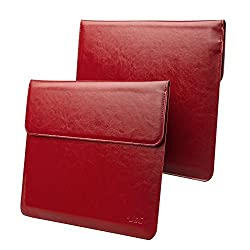 Microsoft Surface Pro 4 Case Sleeve, also fit Surface PRO 3 / Surface 3, J&D Wallet PU Leather Sleeve Case for Surface PRO 4 / 3 Tablet Computer, Compatible with Surface Type Cover Keyboard (Red)