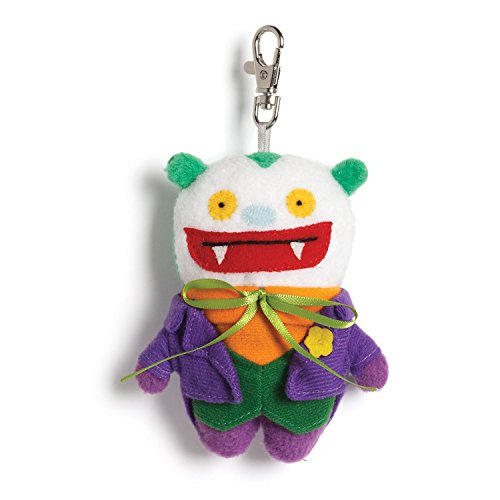 Gund Uglydoll DC Comics Big Toe as Joker Backpack Clip Plush - 1