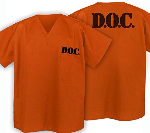 Prison Costume Jail Orange Top Prisoner Costume front-915253