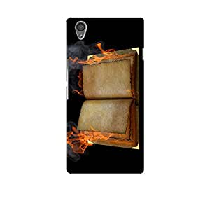 ArtzFolio Open Book In The Flame : OnePlus X Matte Polycarbonate Original Branded Mobile Cell Phone Designer Hard Shockproof Protective Back Case Cover Protector