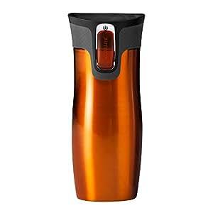 Contigo West Loop Tasse de voyage isotherme en acier inoxydable 470 ml Tangerine