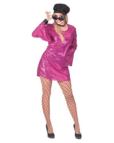 Pierro´s Kostüm Paillettenkleid Luna pink Damenkostüm Frauenkostüm Größe 44/46 für Karneval, Fasching, Party
