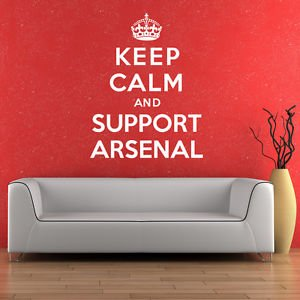 Wall genie keep calm and support arsenal wall sticker for Arsenal mural wallpaper