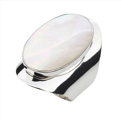 Mother of Pearl & 925 Sterling Silver Ring