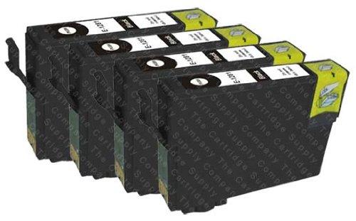 4 Kompatible Druckerpatronen Ersatz für T1291 Schwarz für Epson Stylus SX425W SX535WD SX435W SX235W SX525WD SX445W SX620FW SX420W SX440W SX430W SX230 SX625FW Office BX320FW B42WD BX635FWD BX305FW Plus BX535WD BX925FWD BX525WD BX630FW BX625FWD BX935FWD WorkForce WF-7515 WF-7525 WF-7015