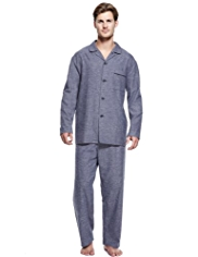 Pure Cotton Winceyette Herringbone Pyjamas