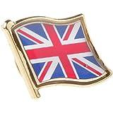 Generic Union Jack Metal Pin Badge United Kingdom Flag Badge Lapel / Tie / Hat Pin