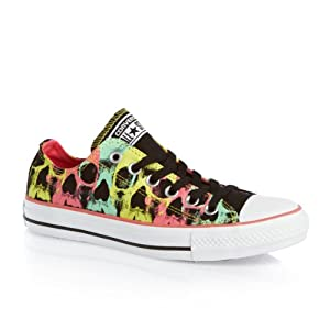 Converse Chuck Taylor Ox Shoes - Black/ Carnival Pink
