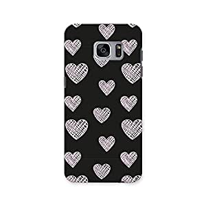 ArtzFolio Blissful Hearts : Samsung Galaxy S7 Matte Polycarbonate ORIGINAL BRANDED Mobile Cell Phone Protective BACK CASE COVER Protector : BEST DESIGNER Hard Shockproof Scratch-Proof Accessories