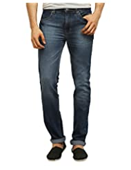 POLICE Men's Flat Front Jeans - B01069AAB8