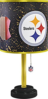 NFL Pittsburgh Steelers Table Lamp with Die Cut Lamp Shade