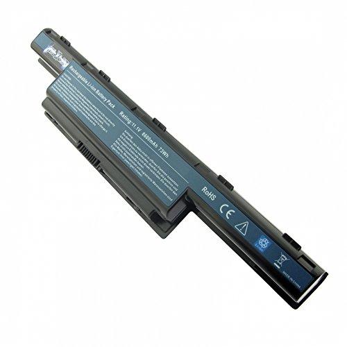 Batterie, Li-Ion, 10.8V, 6600mAh, noir pour Acer TravelMate 5735Z