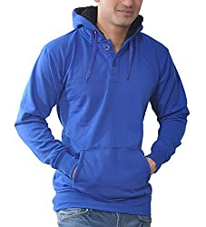 Vibgyor Full Sleeve Hooded Men's Premium Blue Sweatshirt