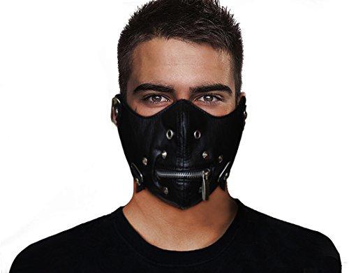 Giancomics Motorcycle Punk Face Mask Airsoft Wind Proof Zipper PU12