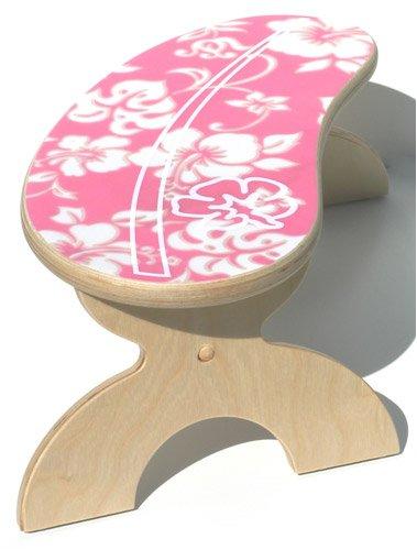 Superb Fabric Inlay Surfboard Step Stool Pink Hawaiian Bestseller Machost Co Dining Chair Design Ideas Machostcouk