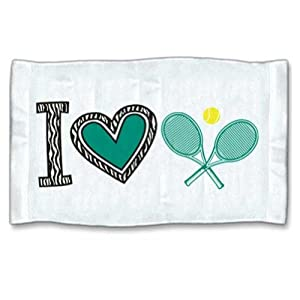 Buy I Love Tennis Zebra Towel by 4WoodenShoes