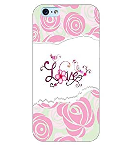 PrintDhaba LOVE PATTERN D-6614 Back Case Cover for APPLE IPHONE 6 PLUS (Multi-Coloured)