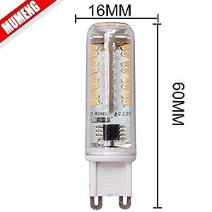 5x G9 LED Light bulb 6W Warm white,70X3014 SMD LEDs AC200-240V 570lumens from MUMENG