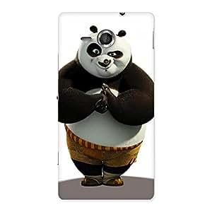 Stylish Punching Panda White Black Back Case Cover for Sony Xperia SP