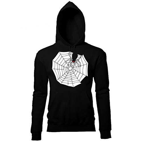 Batch1 Women's Halloween Spooky Spider Web Printed Cobweb Fancy Dress Hoodie