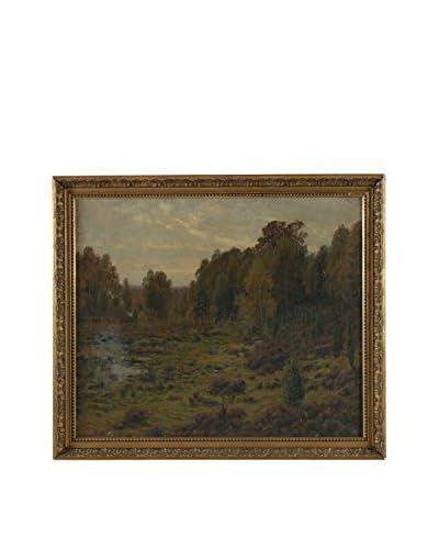 Vezelay Countryside Framed Landscape