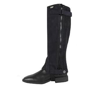 WALDHAUSEN Kurz Chaps waschbar & elastisch, schwarz, S (Höhe:37, 5cm/Wade:31, 5
