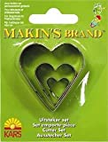 Makin's Clay Cutters, Set of 3 - Hearts (2-4cm)