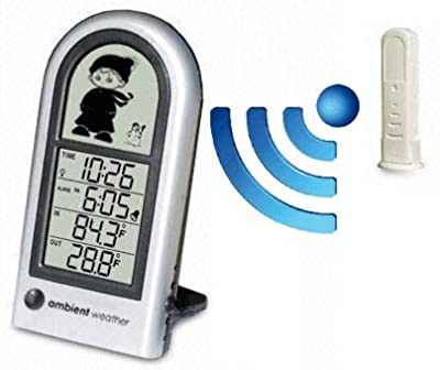 Ambient Weather WS-0211 Wireless Indoor & Outdoor Digital Thermometer for Kids of All Ages from Ambient Weather
