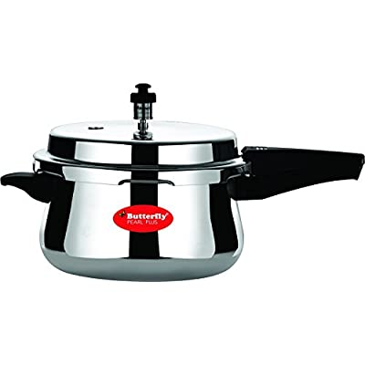 Butterfly Pearl Plus 5L Induction Based Aluminium Inner Lid Pressure Cooker