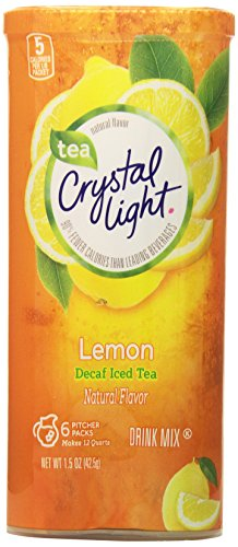 Crystal Light Decaf Iced Tea Drink Mix, Natural Lemon Flavor (12-Quart), 1.5 Ounce Packages (Pack of 12) (Natural Sugar Free Drink Mix compare prices)