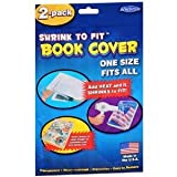 Shrink to Fit Book Covers, One Size Fits All, Heat Shrink (2 Packages, 4 Covers)
