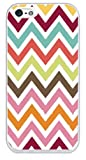Colorful Zig Zag Best Rubber Cell Phone Case Cover for iPhone 5, iPhone 5S - WHITE