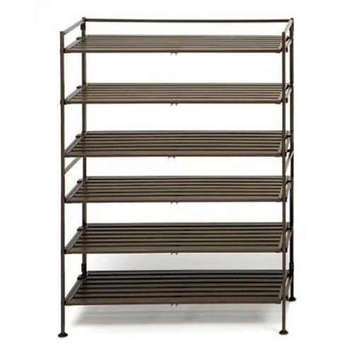 Seville Classics Resin-Wood Composite Utility Shoe Rack (Single Pack)