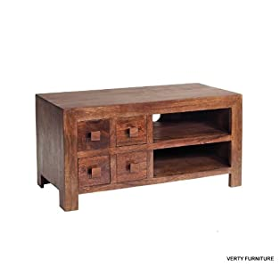 The Best  Cube Mango Dakota Hardwood TV Cabinet