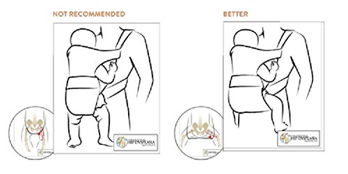 Babi Bambino Best New Baby Black Ergonomic Carrier Sling Soft Hip Seat Headphone Port and Hood