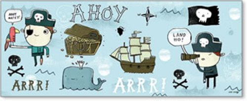"Art4Kids Ahoy Matey I Wall Decor, Treasure Chest, 20""x08"""