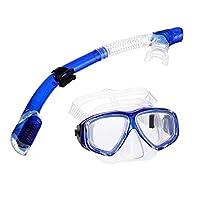 Tmei Schnorchelset Erwachsene Scuba Tauchset Tauchmaske Schnorchel Tauch mit Trockenschnorchel für Herren und Damen Diving Mask