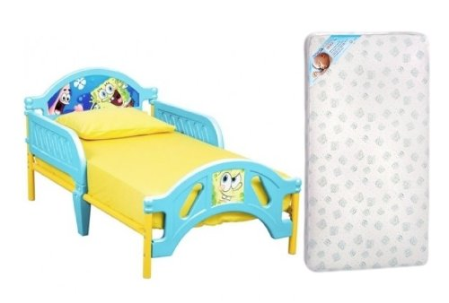 Spongebob Squarepants Toddler Bed And Mattress Set front-28738
