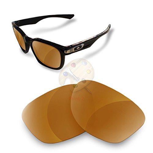 Sunglasses Restorer Lenti Polarizzate Marrone Specchio di Ricambio per Oakley Garage Rock