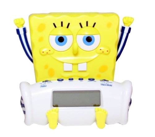 Lutter & Partner 9740111 – Radiowecker Spongebob Schwammkopf günstig