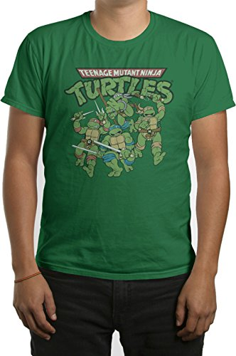 TMNT Teenage Mutant Ninja Turtles Action Mens T-shirt