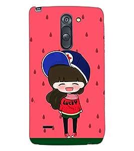 PRINTSWAG CARTOON GIRL Designer Back Cover Case for LG G3 STYLUS