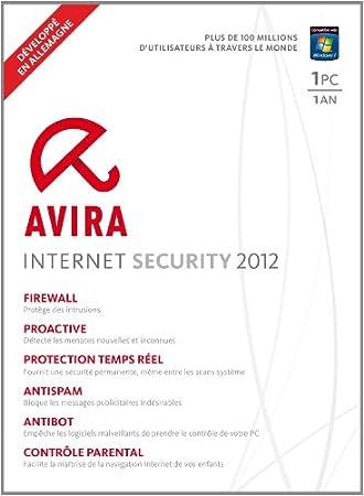 Avira internet security 2012 (1 poste, 1 an)