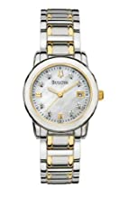 Bulova Women s 98P112 Diamond Accented Dial Two-Tone Bracelet Watch