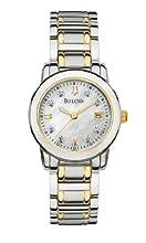 Bulova Women s 98P112 Diamond Accented Dial Two-Tone Bracelet Watch